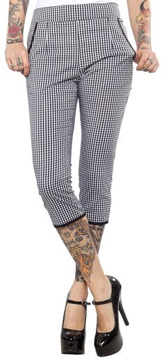 Inked Boutique - Lucy Gingham Capri Pants Retro Vintage Inspired Rockabilly Pin Up Clothing http://www.inkedboutique.com