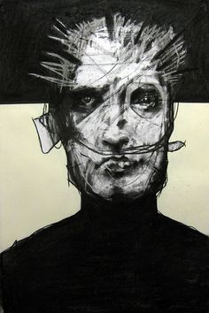 Joseph Loughborough. #drawing #charcoal Kind of creepy looking. I mean those eyes, right!?!!