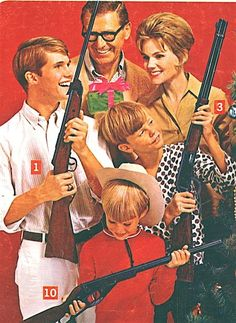 Yay, look what Santa brought us!!  Guns for everyone!!