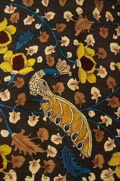 Blouse Neck, Saree Blouse, Hanging Canvas, Canvas Wall Art, Black Background Pattern, Kalamkari Designs, Kalamkari Painting, Greek Pattern, Tree Of Life Art