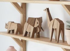 Muzo collection feature three animals, the elephant, the giraffe and the rhinoceros.Each figurine is made of magnetic wooden block.Create your animal, mix the pieces and discover the different shapes possibilities for hybrids animals!