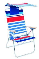 This High Back Beach Chair Has An Attachable Canopy So You Can Move Your Anywhere