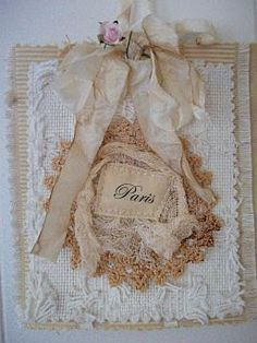 Shabby Paris Couture Wall Hanging. $15.00, via Etsy.
