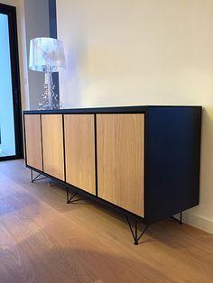 Buffet Chêne et laque mat - Démesure  design d espaces / meubles sur mesure