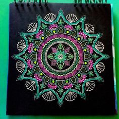 Oti`s art studio mandala Mandala Drawing, Mandala Painting, Mandala Art, Painting & Drawing, Mandala Design, Creation Art, Zen Art, Mandala Coloring, Art Pages