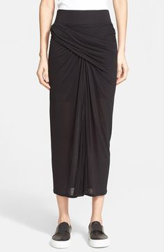 Free shipping and returns on Helmut Lang 'Entity' Jersey Skirt at Nordstrom.com. A side-gathered asymmetrical drape shapes a lightweight jersey skirt slit down the center for breezy, leg-revealing swagger and ease.
