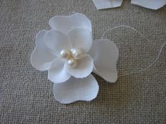 Magnolia fabric flower tutorial | Baby Sewing Patterns and More...These are easy to make,and quite beautiful!!