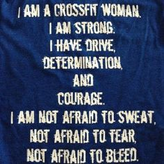 I am a crossfitter