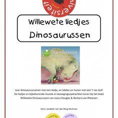 Willewete-liedjes-dinosaurussen Dit pakket bevat twee originele liedjes en bijbehorende muziek en bewegingsopdrachten, behorende bij het boek Willewete Dinosaurussen van Jozua Douglas & Barbara van Rheenen.