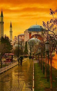 Ayasofya İstanbul | TÜRKİYE  Ey Yar. Seninle ölmeye geldim !  Ateşsen yanmaya, Yağmursan ıslanmaya, Soğuksan donmaya geldim.   Ey Sevgili !  Senden müce... - sıtkı ÇOBANOĞLU - Google+