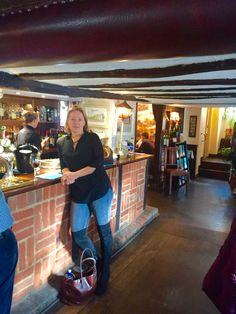 My bestie Julie at Cricketers in Clavering UK