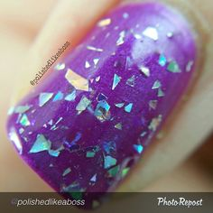 """by @polishedlikeaboss """"#macro of Aurora by @dailyhuesnaillacquer, which is part of the Shifty Neons collection! Such a gorgeous polish. It looks like magic mirrors on my nails! For more information about the collection, visit the Daily Hues IG page!  #indieaday #macromanis #dailyhuesnaillacquer #polishedlikeabossdailyhues #shiftyneons #indiebossstyle #indienails #indie411 #indiemanis #indienailpolish #indiepolish #indieswatch #indienailpolishes #supportindienailpolish #nailsofig #mani…"""