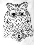 OWL OUTLINE TATTOO by ~jsgraphix on deviantART