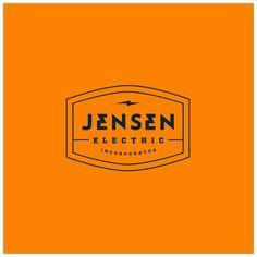 Jensen electric, inc. on identity/branding Typography Logo, Logo Branding, Brand Identity, Branding Design, Logo Design, Flat Design, Graphic Design, Logo Flash, Sailor Logo