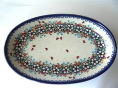This is a good one! Polish pottery tray