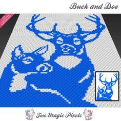 Looking for your next project? You're going to love Buck and Doe C2C Crochet Graph by designer TwoMagicPixels.