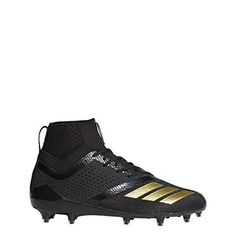 25317f5b80e9 adidas Adizero 5Star 7.0 Mid Cleat Men's Football 7.5 Black-Gold Metallic