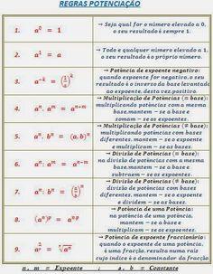 Neste capitulo abordaremos o cálculo de números sob a forma de potencias. Com a evoluçao tecnologica este tipo de calculos está praticame...