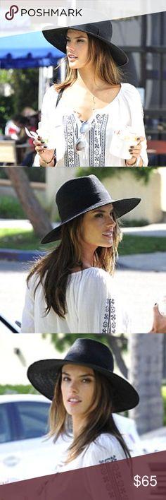 ále by Alessandra-Bel Air Hemp Hat * 100% hemp straw * Ribbon accent * one size (adjustable) ále by Alessandra Accessories Hats