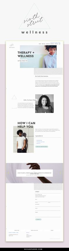 branding & modern squarespace web design for therapist specializing in wellness for young professionals - from the Revamp Amor Design Studio