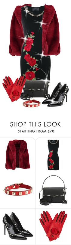 """""""Outfit Only Matching Bag & Shoes"""" by shamrockclover ❤ liked on Polyvore featuring Boohoo, Philipp Plein, Valentino and Gizelle Renee"""