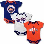 NY Mets Baby Outfit (3 -Pack)
