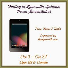 Positive Kismet    Nexus Sweepstakes: Falling In Love With Autumn Giv...  #Nexus7 #giveaway