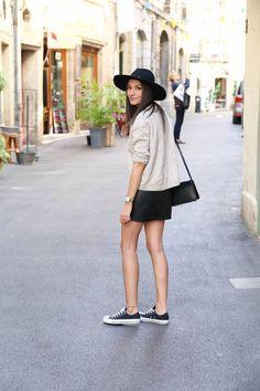 blog mode jupe en cuir tenue printemps