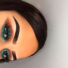 "1,584 Likes, 42 Comments - Rojda (@chicfab_mua) on Instagram: ""Orange & turquoise @nyxcosmetics brow pomade in ""espresso"" @sweettheartcosmetics lashes in the…"""