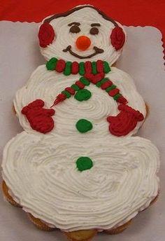 Christmas Cupcake Snowman