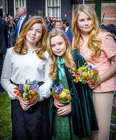 The Royal Children: Dutch RF: Princesses Amalia, Alexia and Ariane at Kingsday 2018 (Koninsdag) Royal Princess, Prince And Princess, Little Princess, Happy Family Photos, Queen Pictures, Royal Blood, Royal Tiaras, Dutch Royalty, First Daughter