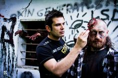 Zombie Makeup special fx broken head by Emanuele Borello Bodypainter