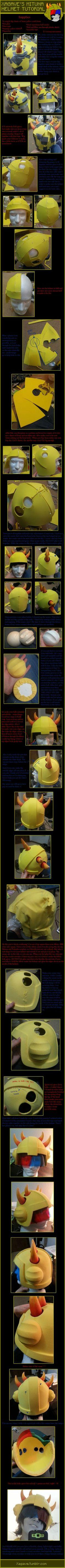 Mituna helmet tutorial by Polterrgeist