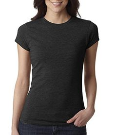 NEXT LEVEL Ladies' Poly/Cotton Tee>S Black 6000