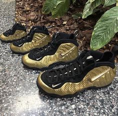 7cb9829541c Nike Little Posite Pro Metallic Gold Toddler Preschool 5C-3Y