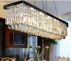 Wholesale Length 100cm Modern LED Crystal Pendant Light Ceiling Lamp Chandelier Lighting, Free shipping, $258.7/Piece | DHgate