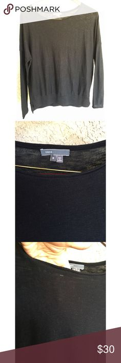 "VINCE Black Cotton Basic Long Sleeve Top M Great condition! Great staple piece. Size medium and approx: 24"" across chest and 26.5"" length Vince Tops"