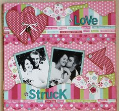 I love the hearts tied together with brad holes and ribbon-- Kiwi Lane Designs
