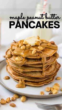 Pancake Recipes, Delicious Breakfast Recipes, Waffle Recipes, Brunch Recipes, Delicious Food, Sweet Breakfast, Breakfast For Kids, Breakfast Ideas, Canadian Cuisine
