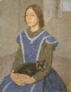 Cave to Canvas, Gwen John, Girl with Cat, 1918-22