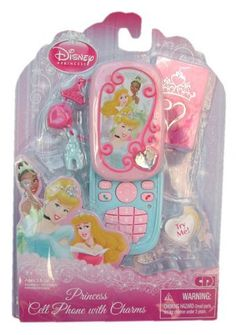 Disney Princess Cell Phone with Charms by CDI. $19.95. With the Disney Princess Play Cell Phone your little girl can pretend to chat with her favorite Disney Princess and be fashionable
