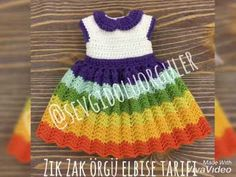 Baby Girl Dresses, Amigurumi Doll, Free Pattern, Crochet Hats, Summer Dresses, Men Scarf, Instagram, Fashion, Doll Stuff