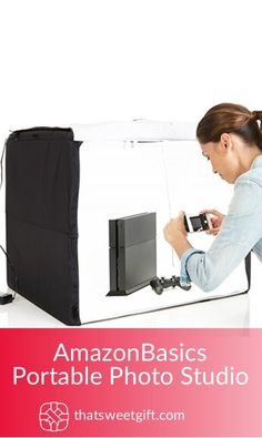 Photoshoot Portable Foldable Photo Studio Box with LED Light - 25 x 30 x 25 Inches Make photography affordable, portable, and easier than ever.