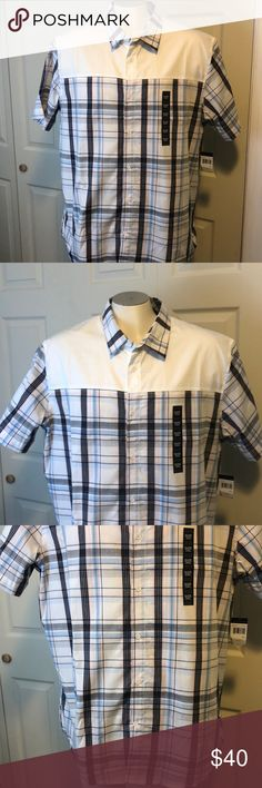 Sean John Blue Pink Stripe Plaid Button Up 3XL Sean John Blue Pink Stripe Plaid Button Up 3XL  Short sleeve New with tags  60% cotton 40% polyester   All reasonable offers accepted  Check out my other men's items  32 2 Sean John Shirts Casual Button Down Shirts
