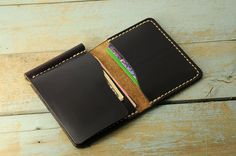Horween money clip wallet mens leather money by Manufacturabrand