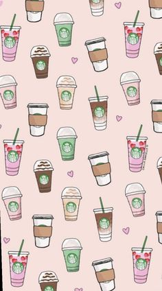 Cute Backgrounds For iPhone Starbucks Cute Backgroun. - Cute Backgrounds For iPhone Starbucks Cute Backgrounds For iPhone Starb - Coffee Wallpaper Iphone, Starbucks Wallpaper, Et Wallpaper, Friends Wallpaper, Cute Wallpaper For Phone, Homescreen Wallpaper, Cute Patterns Wallpaper, Emoji Wallpaper, Wallpaper Iphone Disney