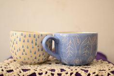 Ceramic Bowls, Ceramic Art, Couple Mugs, Cat Coffee Mug, Tea Cup Set, Mugs Set, Clay Art, Pottery Art, Cat Lover Gifts