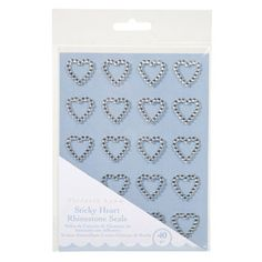 Sticky Rhinestone Hearts - 4mm - 40 pc.