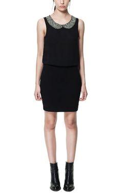 GEORGETTE COMBINATION DRESS - Dresses - TRF - ZARA United States