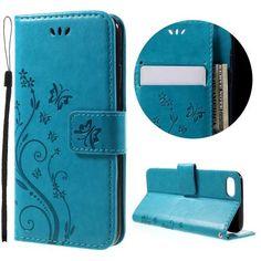 Köp Läderfodral Fjärilar Apple iPhone 7 blå online. http://www.phonelife.se/laderfodral-fjarilar-apple-iphone-7-bla